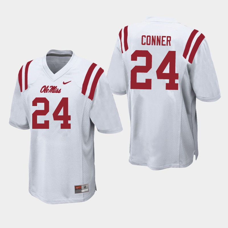 Men #24 Snoop Conner Ole Miss Rebels College Football Jerseys Sale-White
