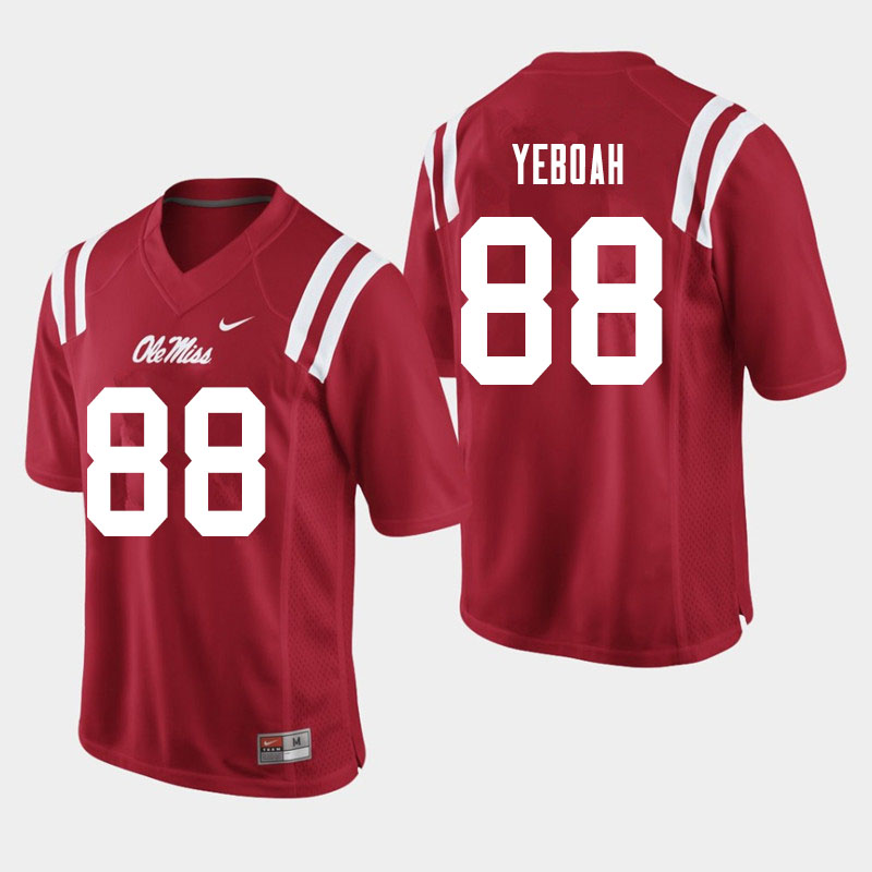 Men #88 Kenny Yeboah Ole Miss Rebels College Football Jerseys Sale-Red
