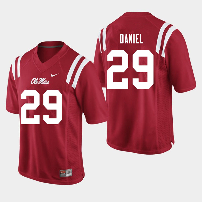 Men #29 Lakevias Daniel Ole Miss Rebels College Football Jerseys Sale-Red