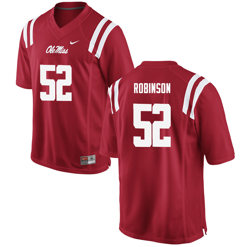 Men Ole Miss Rebels #52 Austrian Robinson College Football Jerseys-Red