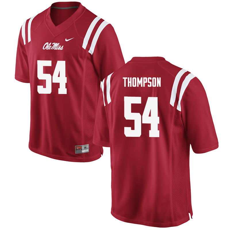 Men Ole Miss Rebels #54 Carlos Thompson College Football Jerseys-Red
