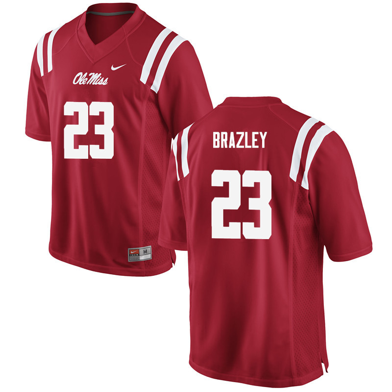 Men Ole Miss Rebels #23 Eugene Brazley College Football Jerseys-Red