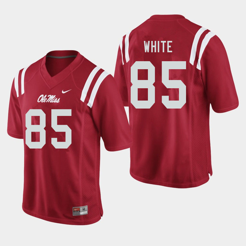 Men #85 Jack White Ole Miss Rebels College Football Jerseys Sale-Red