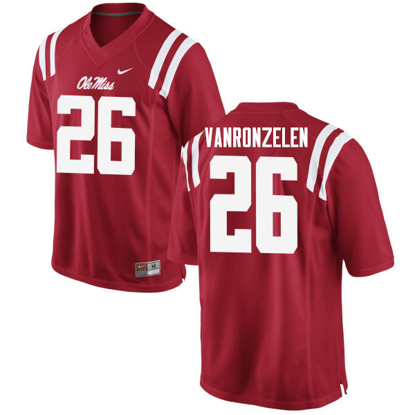 Men #26 Jake VanRonzelen Ole Miss Rebels College Football Jerseys Sale-Red