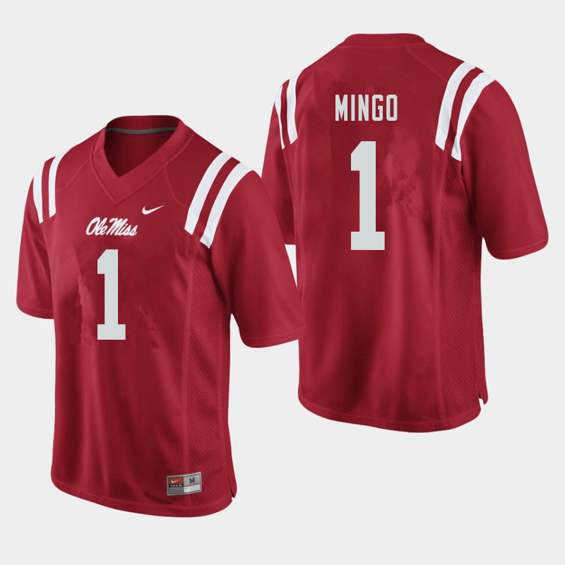 Men #1 Jonathan Mingo Ole Miss Rebels College Football Jerseys Sale-Red
