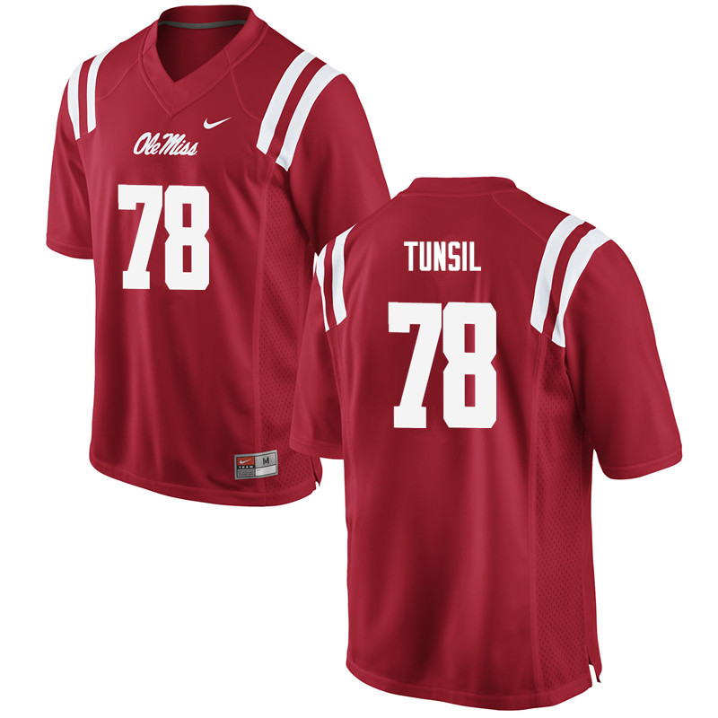 Men Ole Miss Rebels #78 Laremy Tunsil College Football Jerseys-Red