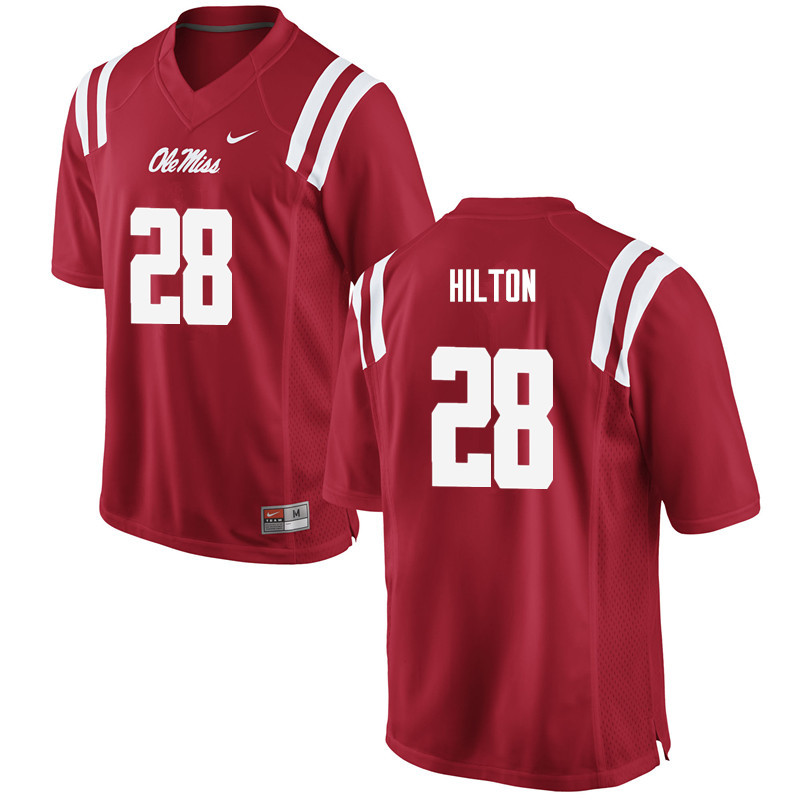 Men Ole Miss Rebels #28 Mike Hilton College Football Jerseys-Red