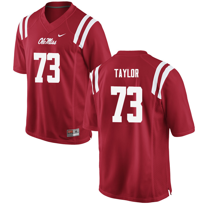 Men Ole Miss Rebels #73 Rod Taylor College Football Jerseys-Red