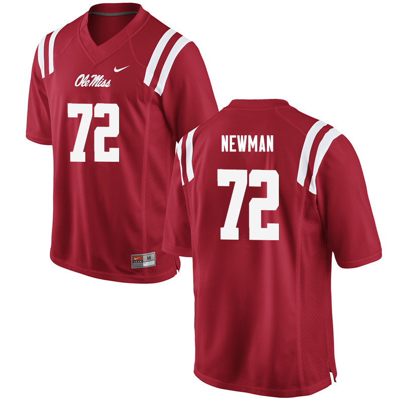 Men Ole Miss Rebels #72 Royce Newman College Football Jerseys-Red