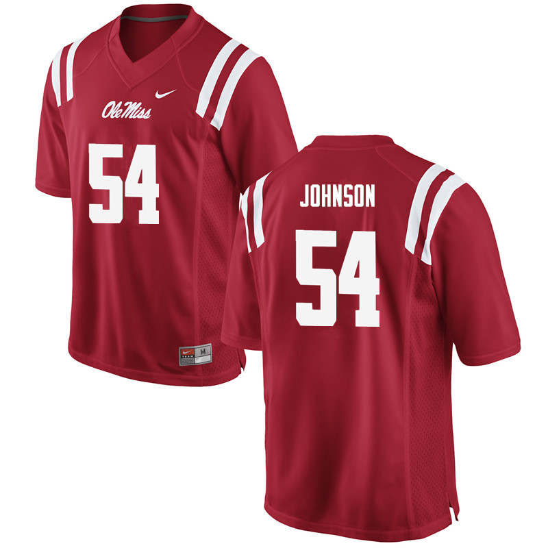 Men Ole Miss Rebels #54 Sam Johnson College Football Jerseys-Red