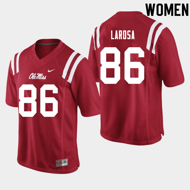Women #86 Jay LaRosa Ole Miss Rebels College Football Jerseys Sale-Red