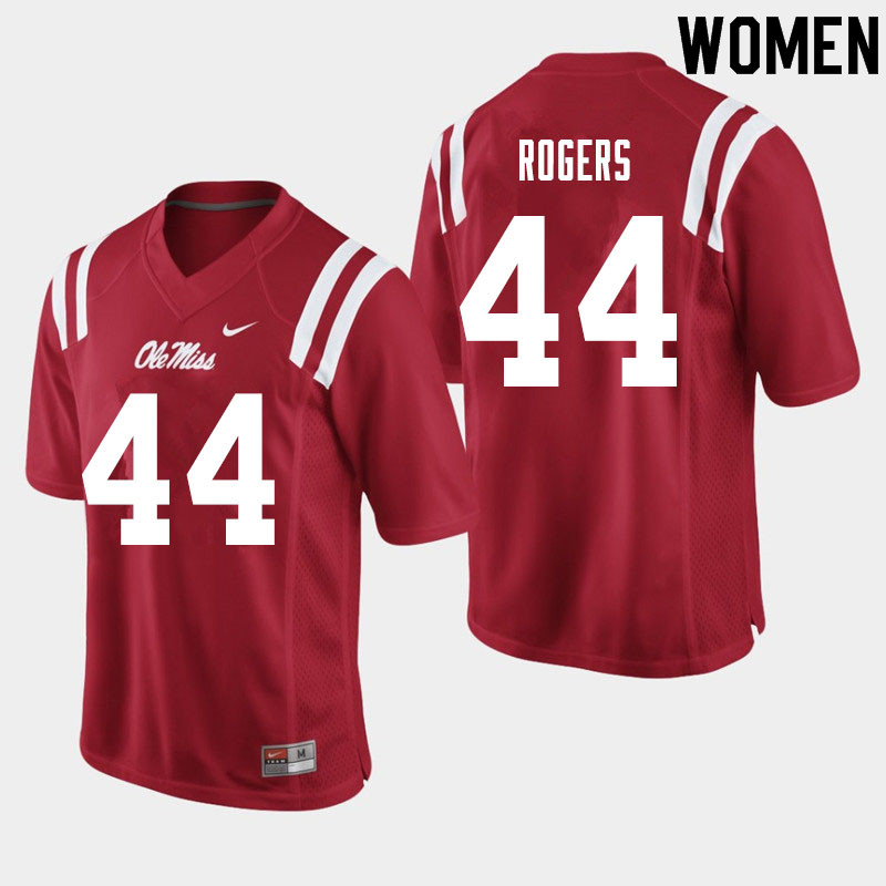 Women #44 Payton Rogers Ole Miss Rebels College Football Jerseys Sale-Red