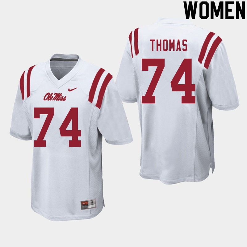 Women #74 Darius Thomas Ole Miss Rebels College Football Jerseys Sale-White