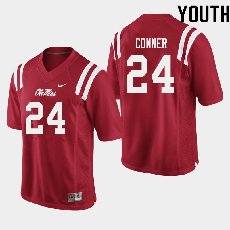 Youth #24 Snoop Conner Ole Miss Rebels College Football Jerseys Sale-Red