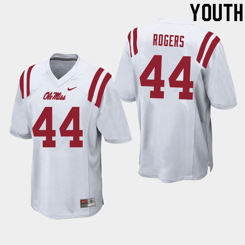 Youth #44 Payton Rogers Ole Miss Rebels College Football Jerseys Sale-White