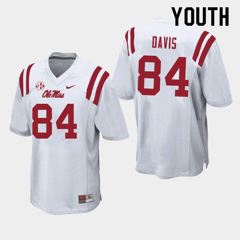 Youth #84 Qua Davis Ole Miss Rebels College Football Jerseys Sale-White