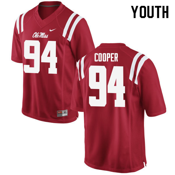 Youth #94 Jack Cooper Ole Miss Rebels College Football Jerseys Sale-Red